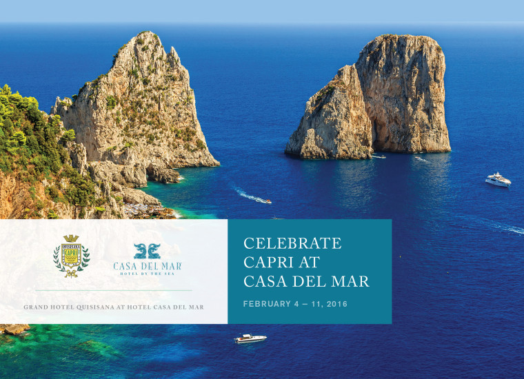 Celebrate Capri At Casa Del Mar Etc Blog